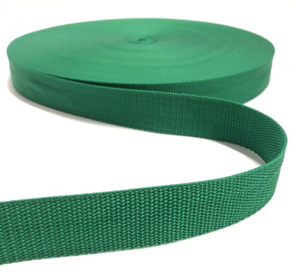 Gurtband Polypropylen dunkelgrün, 30mm breit