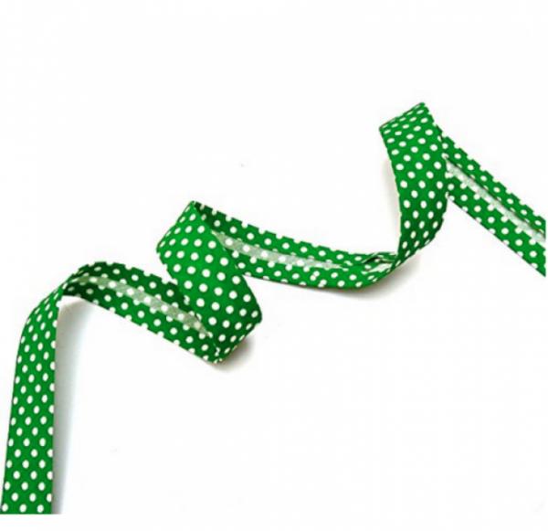 5m Schrägband Punkte grün (88)