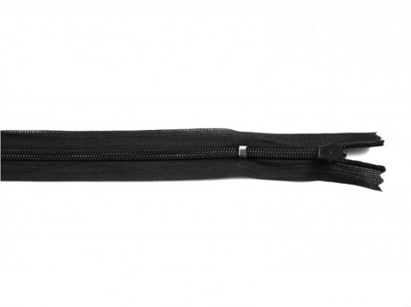 nahtverdeckter Reißverschluss, 25cm, verstellbar, schwarz
