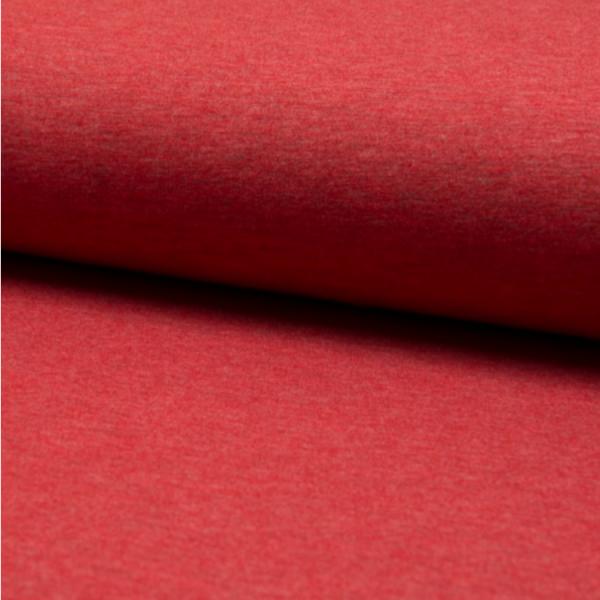 Jersey uni meliert rot