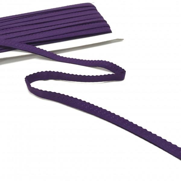 Elastisches Einfassband, Wäschegummi, violett