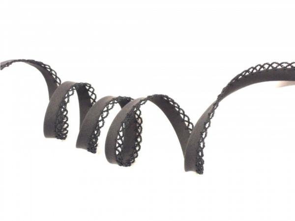 5m Schrägband uni mit Häkelborte anthrazit (12)