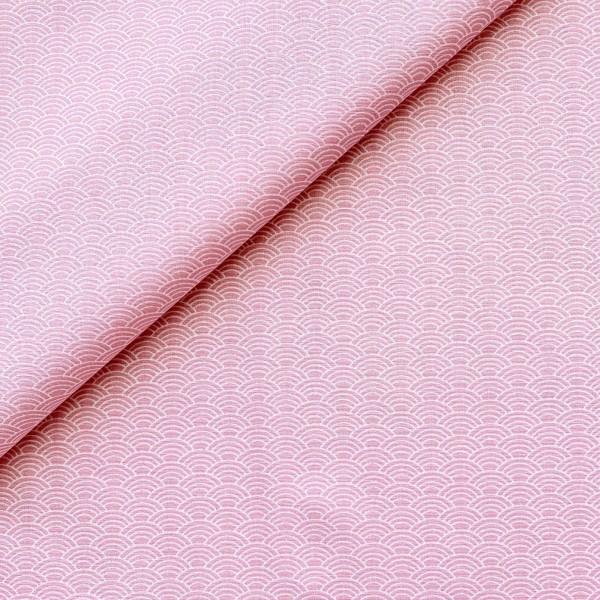 Stoff Kleiner Fächer auf rosa 100% BW