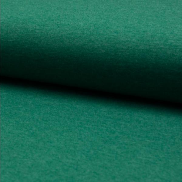 Jersey uni meliert dunkelgrün