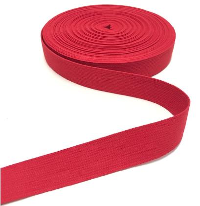 BW-Gurtband rot, 30mm breit