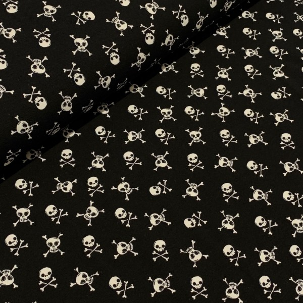 Jersey Totenkopf schwarz-weiß