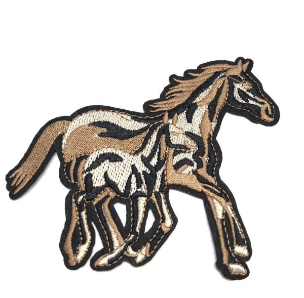 Bügel-Applikation Pferd und Fohlen
