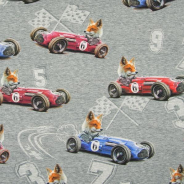 Jersey Digitaldruck Fuchs im Rennauto