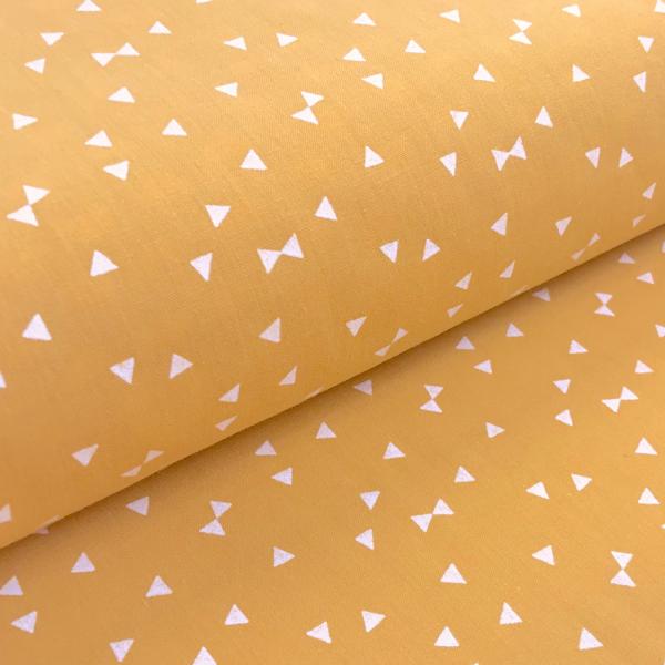 Stoff BW Mini-Dreiecken senf gelb