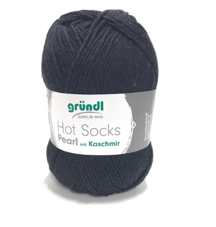 Gründl Hot Socks Pearl (10) schwarz mit Kaschmiranteil