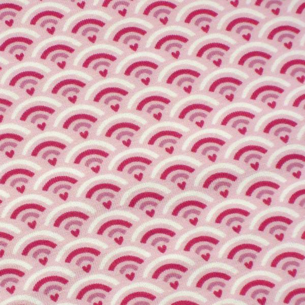 Jersey Herz Bogenmuster rosa-pink