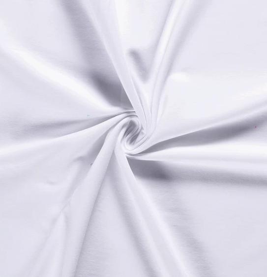 French Terry Uni weiß 250 g/m2 1,5m breit ÖkoTex 100