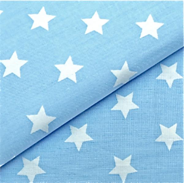 2 Größen Sterne: hellblau-weiß