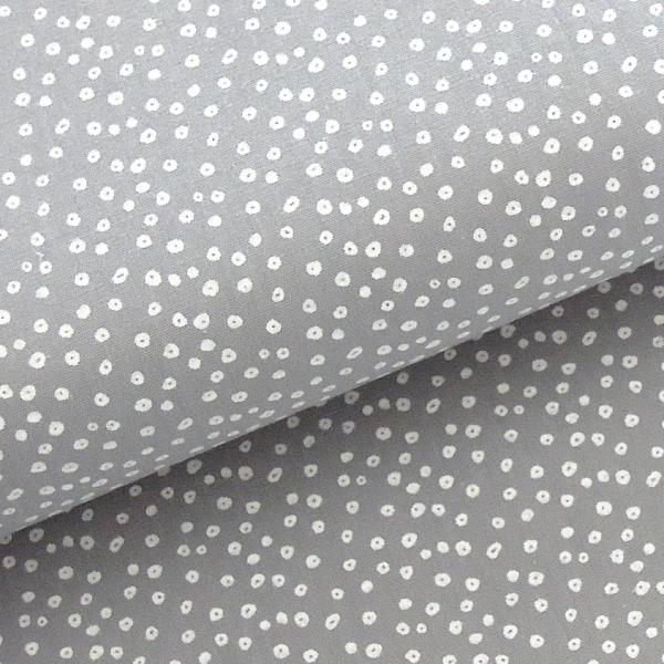 Stoff BW Mini Dots grau