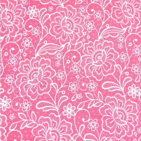 Jersey Lace Optik Spitze rosa