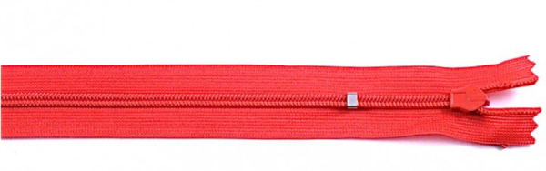 nahtverdeckter Reißverschluss, 25cm, verstellbar, rot