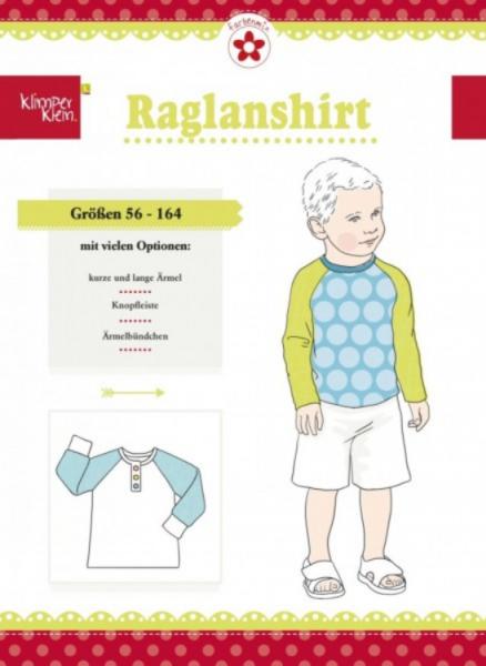 """Papierschnittmuster """"Raglanshirt"""" von Klimperklein"""