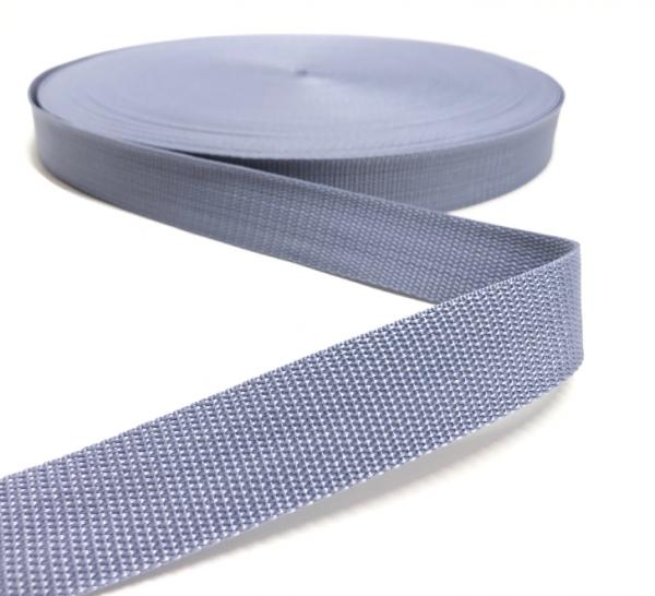 Gurtband Polypropylen hellgrau, 25mm breit
