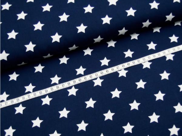 2 Größen Sterne: dunkelblau-weiß