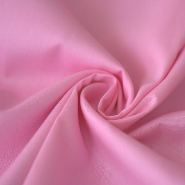 Uni-Baumwollstoff rosa