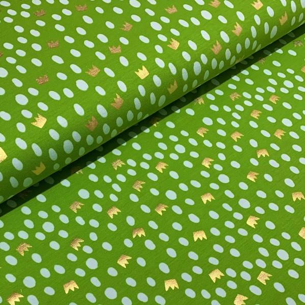 Jersey Foliendruck Krone grün