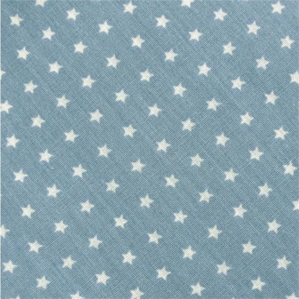 Mini-Sterne graublau-weiß