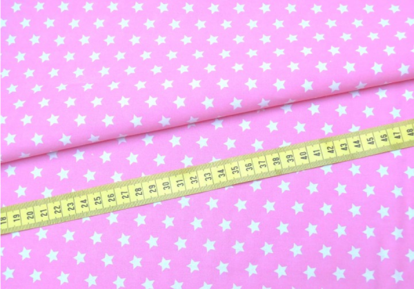 2 Größen Sterne: rosa-weiß