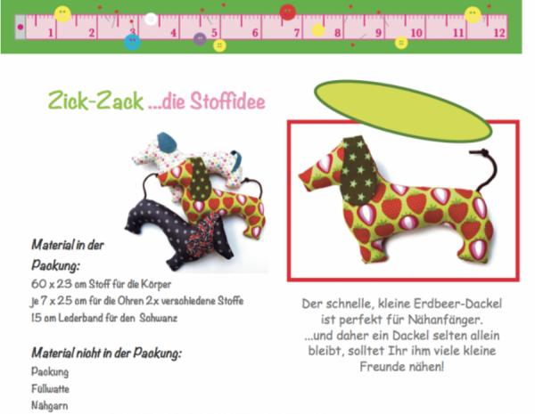 Erdbeer-Dackel Schnitt und Anleitung