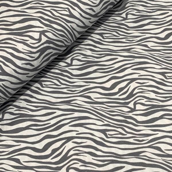 Zebra-Muster grau 100%BW
