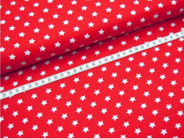 2 Größen Sterne: rot-weiß