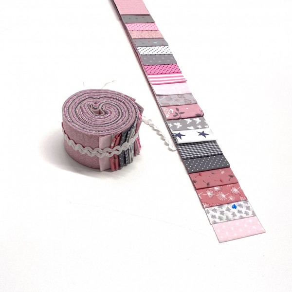Jelly Roll Rosies Summer, ca 6,5cm breit