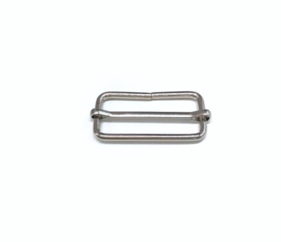 Leiterschnalle 40mm, silbern
