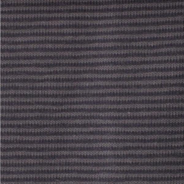 Bündchen Mini-Streifen grau