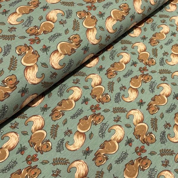 Jersey Eichhörnchen grau-grün