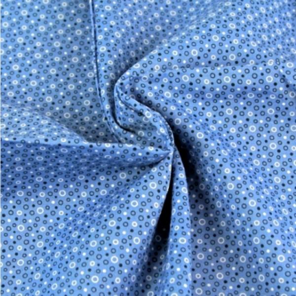 Stoff Bubbles blau