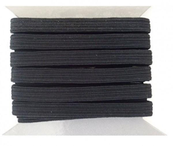 5m Gummiband schwarz 8mm breit