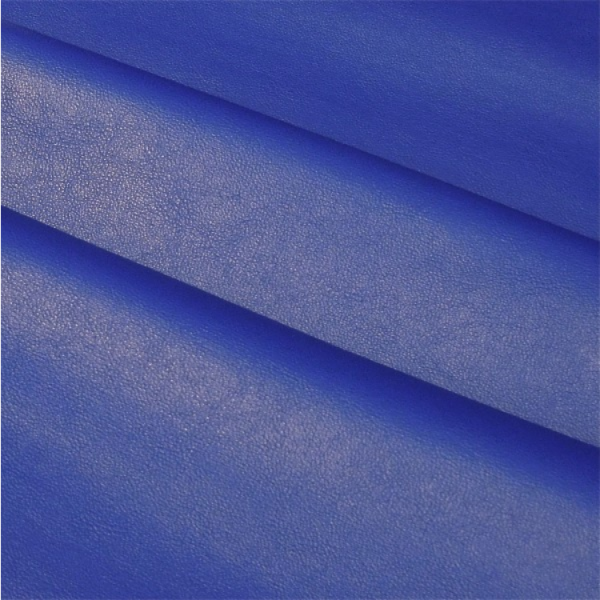 Kunstleder uni mittelblau, leuchtendes royalblau