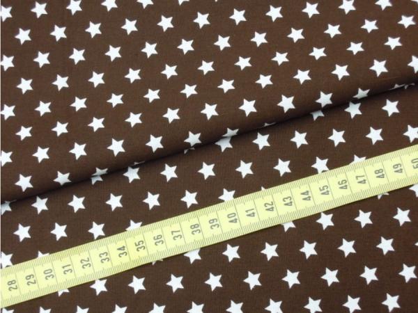 2 Größen Sterne: braun-weiß