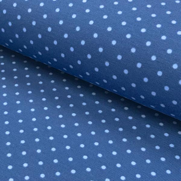 Jersey Punkte mittelblau-hellblau 006 Motivgröße Punkt ca. 3mm
