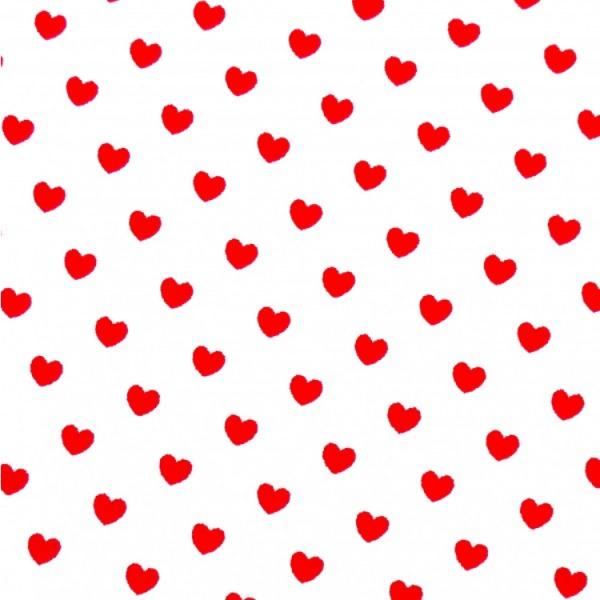 Herzen weiß-rot