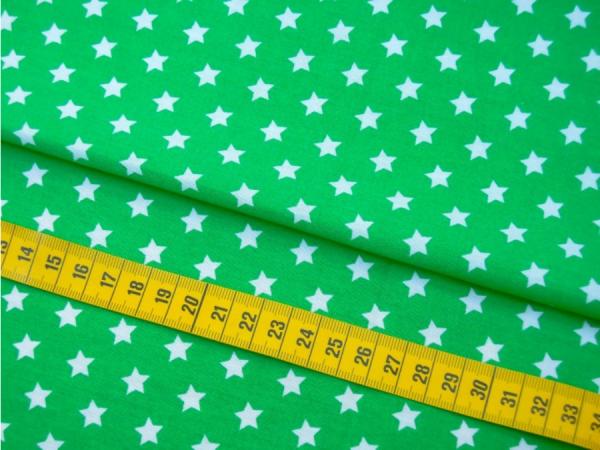 2 Größen Sterne: dunkelgrün-weiß