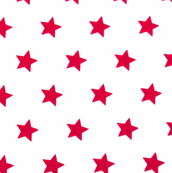 Sterne, ca.1,5cm, weiß-rot
