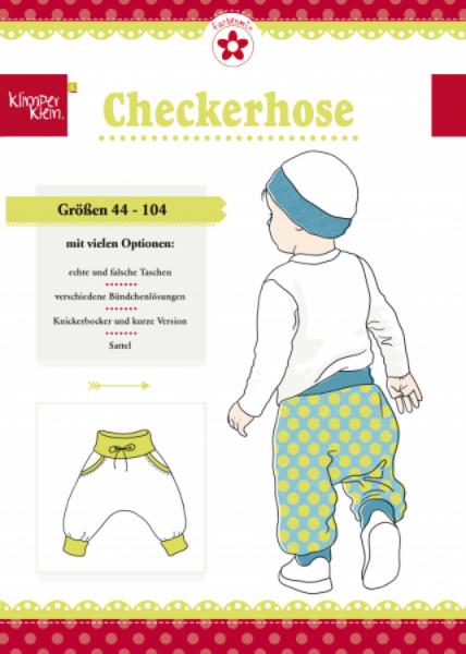 """Papierschnittmuster """"Checkerhose"""" von Klimperklein"""