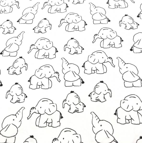 Jersey Elefanten weiß-schwarz