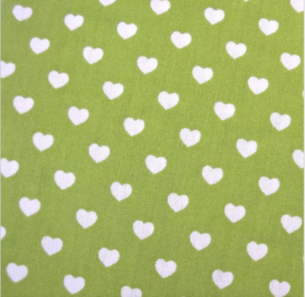 Herzen hellgrün-weiß