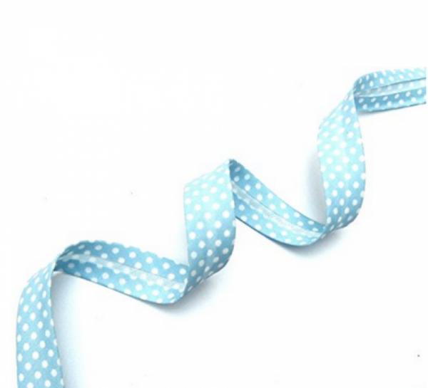 5m Schrägband Punkte hellblau (15)