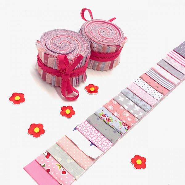 Jelly Roll Rosies Summer, ca 6,5cm breit