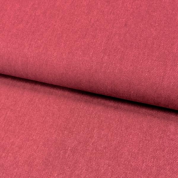 Canvas Leinen-Optik uni rot Baumwolle