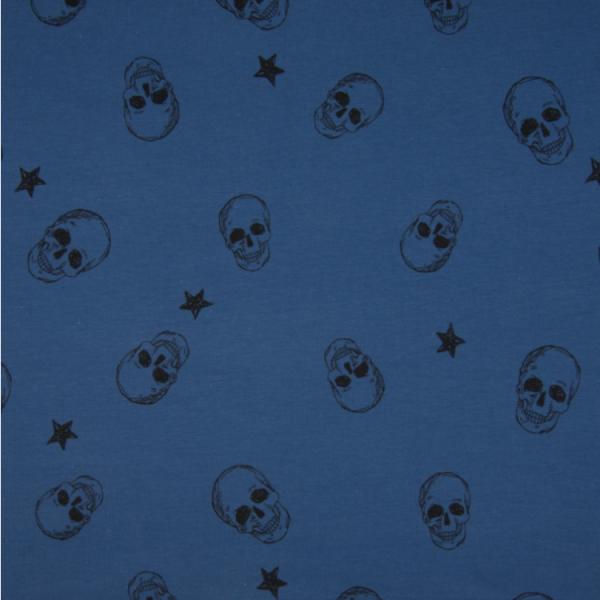 Jersey Totenköpfe & Sterne Motivgröße ca. 4,5cm