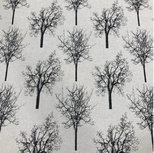Canvas Leinenoptik schwarze Bäume